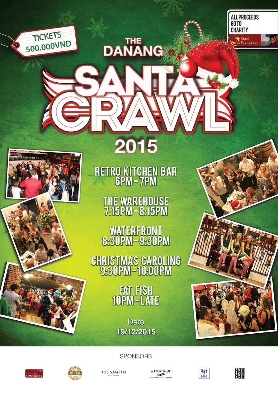 Da Nang Santa Crawl Charity event 2015
