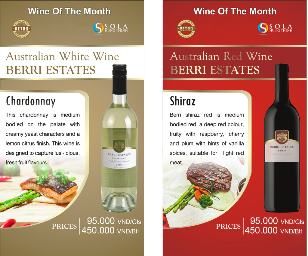 Retro kitchen and bar wine of the month 2